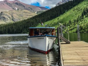 "The ""Sinopah"" - our cruise boat on Two Medicine Lake in Glacier NP"