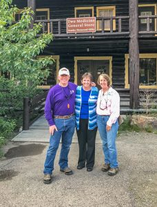 Jack and Anna with Colleen Day @ Two Medicine General Store in Glacier NP